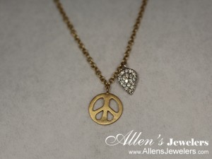 Allen's Jewelers clearance items - MeiraT peace sign made of 14K gold