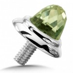 colore- Sterling Silver Green Amethyst Single Cap