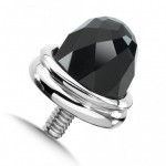 colore-Sterling Silver Onyx Single Cap
