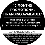 12 Months Financing Promo