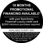 18 Months Financing Promo